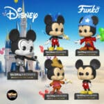 Funko Pop! Disney Archives: Mickey Mouse - Plane Crazy Mickey, Classic Mickey, Sorcerer Mickey, Beanstalk Mickey, and Mickey Mouse Funko Pop! Vinyl Figures 2020