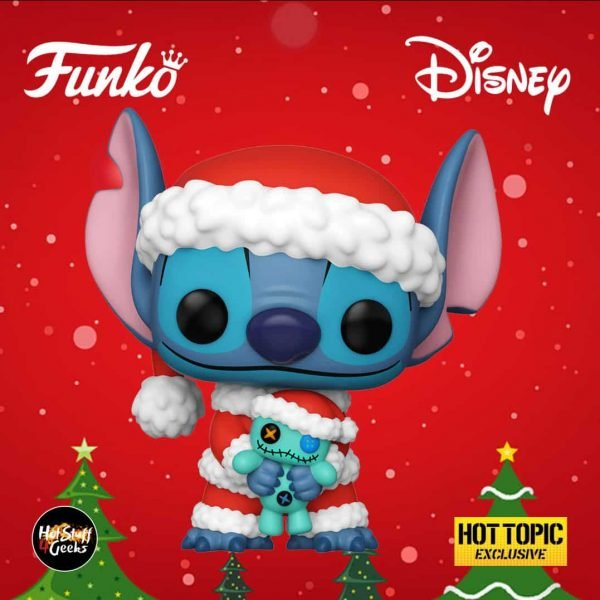 Funko Pop! Disney: Lilo & Stitch -  Stich & Scrump Funko Pop! Vinyl Figure - Christmas Holiday Outfit 2020 - Hot Topic Exclusive