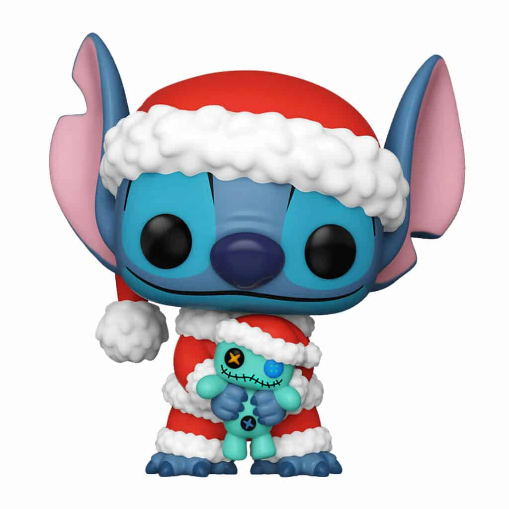 Funko Pop! Disney: Lilo & Stitch -  Stitch & Scrump Funko Pop! Vinyl Figure - Christmas Holiday Outfit 2020 - Hot Topic Exclusive