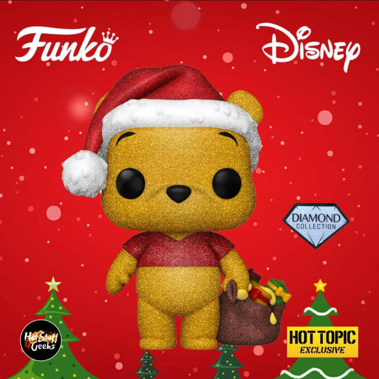 Funko Pop! Disney: Winnie The Pooh (Diamond Collection) Funko Pop! Vinyl Figure - Christmas Holiday Outfit 2020 - Hot Topic Exclusive