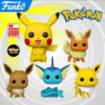 Funko Pop! Games: Pokemon - Vaporeon, Flareon, Jolteon, Eevee, and Pikachu 18-Inch Funko Pop! Vinyl Figures 2020