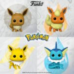 Funko Pop! Games Pokemon - Vaporeon, Flareon, Jolteon, and Eevee Funko Pop! Vinyl Figures 2020