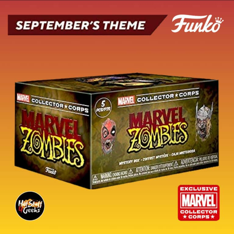 Funko Pop! Marvel Collector Corps September 2020 Subscription Box - Marvel Zombies Theme