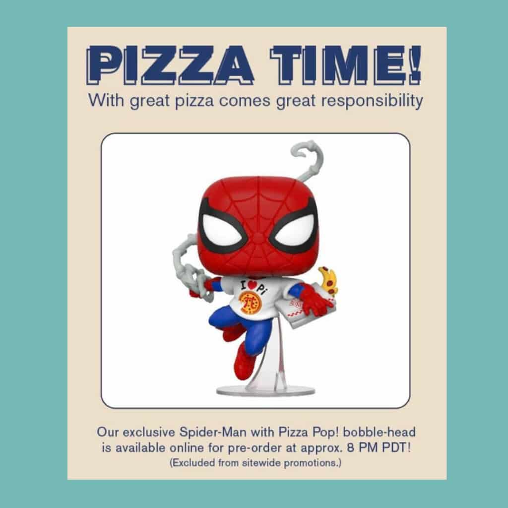 Funko Pop! Marvel Eat the Universe - Spider-Man with Pizza Funko Pop! Vinyl Figure - BoxLunch Exclusive