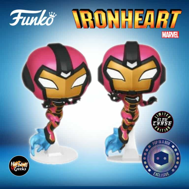 Funko Pop! Marvel: Iron Heart with Glow-In-The-Dark (GITD) Chase Funko Pop! Vinyl Figure - Pop In a Box (PIAB) Exclusive