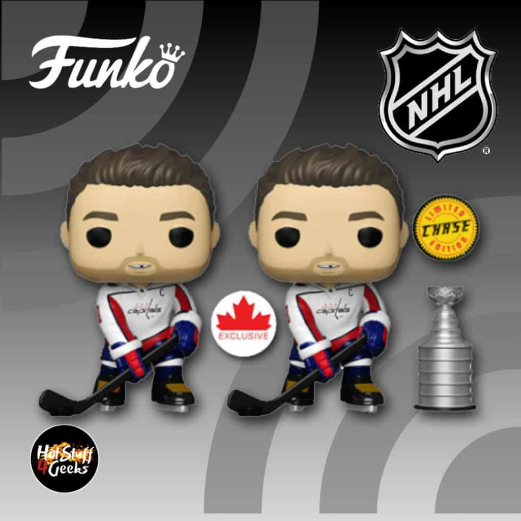 Funko Pop! NHL: Washington Capitals  Alexander Ovechkin With Chase  Funko Pop! Vinyl Figure - Canada Exclusive