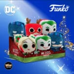Funko Pop! Plush: DC Holiday - Holly Quinn with Mallet, Rudolph Flash, Santa Joker, and Scrooge Batman 4- Pack Pop! Plush - Christmas Holiday 2020