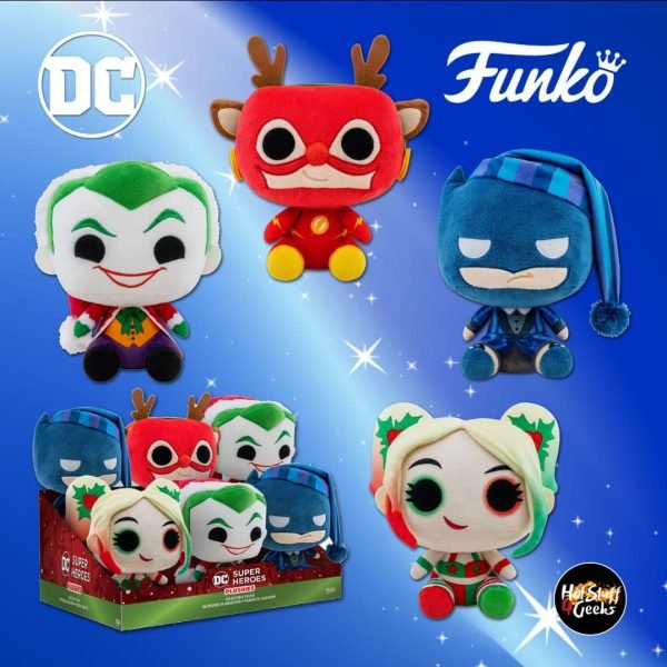 Funko Pop! Plush: DC Holiday - Holly Quinn, Rudolph Flash, Santa Joker, and Scrooge Batman Pop! Plush - Christmas Holiday 2020