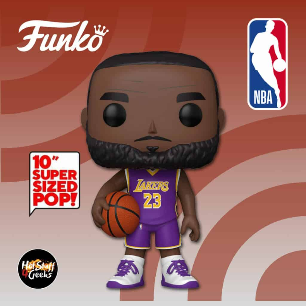 Funko Pop! Basketball: NBA Lakers LeBron James (Purple Jersey) 10-Inch Funko Pop! Vinyl Figure