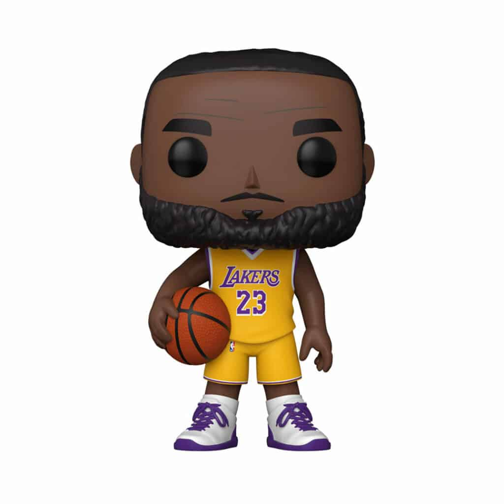 Funko Pop! Basketball: NBA Lakers LeBron James (Yellow Jersey) 10-Inch Funko Pop! Vinyl Figure - Walmart Exclusive
