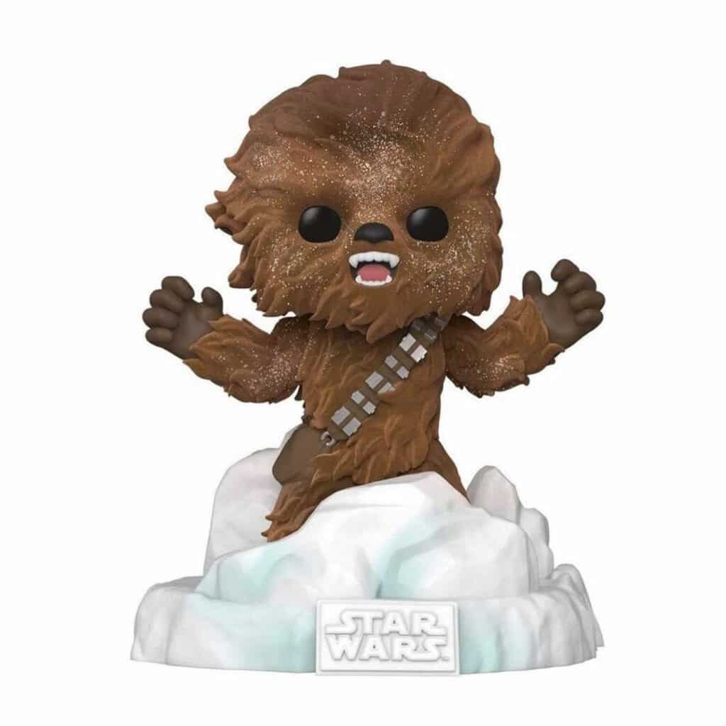 Funko Pop! Star Wars Episode V: The Empire Strikes Back 40th Anniversary - Battle at Echo Base:  Chewbacca (Flocked) Funko Pop! Vinyl Figure  - Amazon Exclusive Diorama
