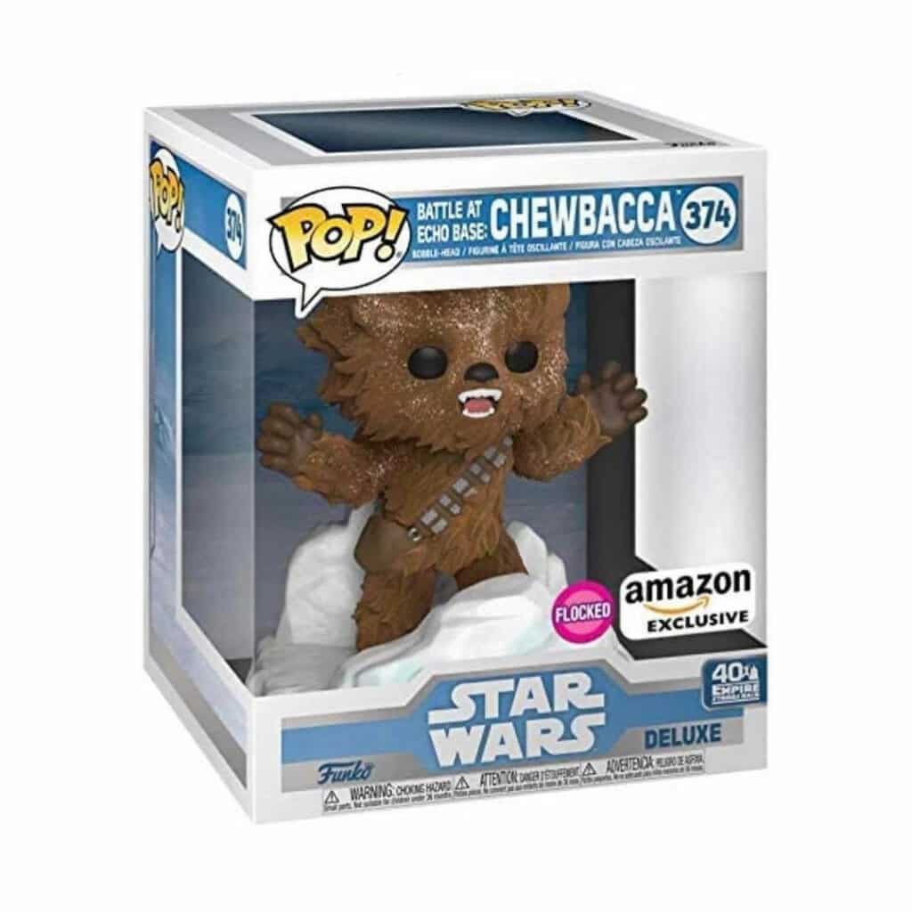 Funko Pop! Star Wars Episode V: The Empire Strikes Back 40th Anniversary - Battle at Echo Base:  Chewbacca (Flocked) Funko Pop! Vinyl Figure  - Amazon Exclusive Diorama (Box)