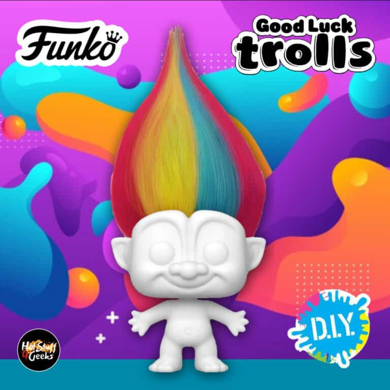 Funko Pop! Trolls: Good Luck Trolls - Rainbow Troll (D.I.Y. - Do It Yourself) Funko Pop| Vinyl Figure