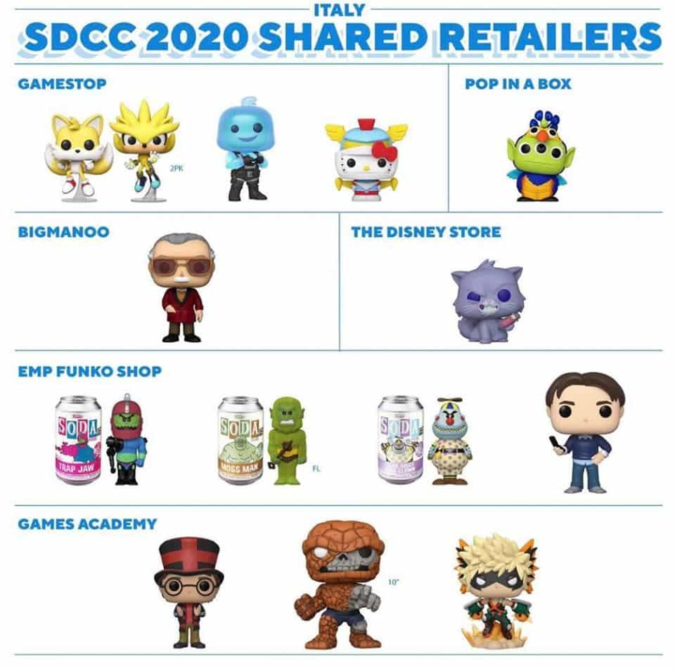 Italy - Funko SDCC 2020 Shared Retailers