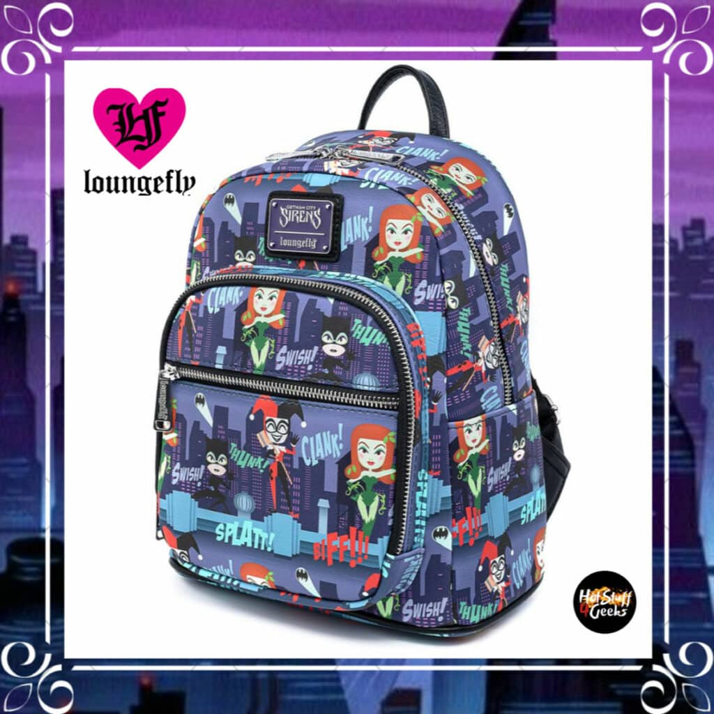 Loungefly DC Comics: Gotham City Sirens AOP Mini Backpack by Loungefly