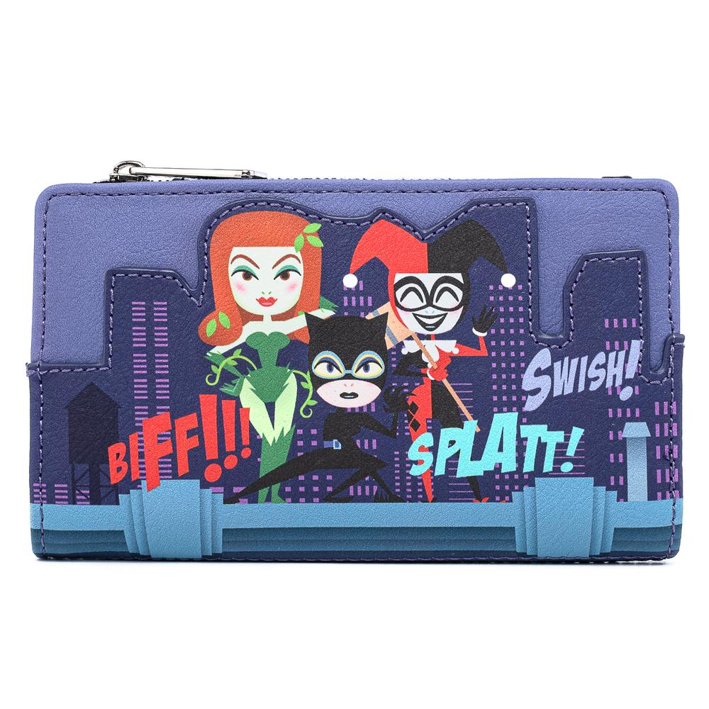 Loungefly DC Comics: Gotham City Sirens Flap Wallet by Loungefly