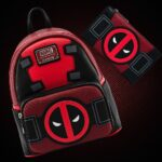 Loungefly Marvel Deadpool Merc With A Mouth Cosplay Mini Backpack and Loungefly Marvel Deadpool Merc With A Mouth Flap Wallet