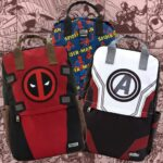 Loungefly Deadpool Cosplay Square Nylon Backpack
