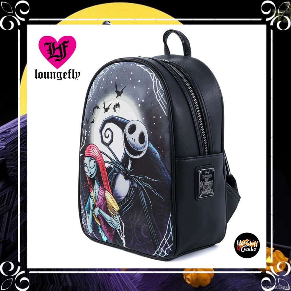 Loungefly Disney The Nightmare Before Christmas Jack And Sally Simply Meant To Be Mini Backpack