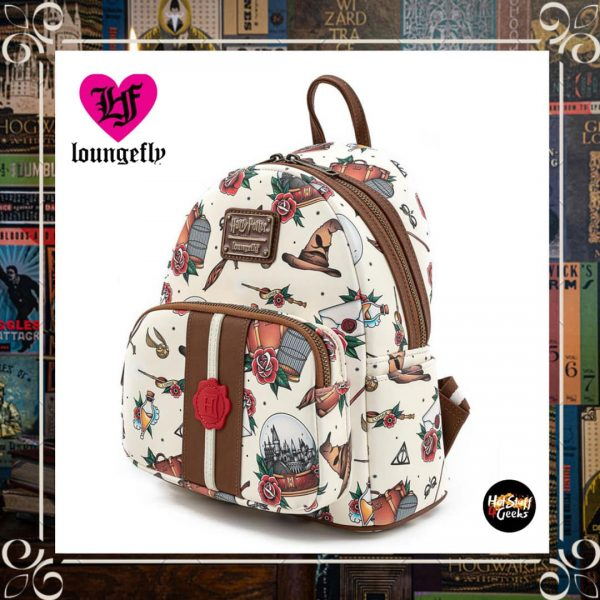 Loungefly Harry Potter Relics Tattoo Envelope Mini-Backpack