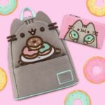 Loungefly Pusheen: Plate-O-Donuts Cosplay Mini Backpack and Loungefly Pusheen: Double Donuts Flap Wallet