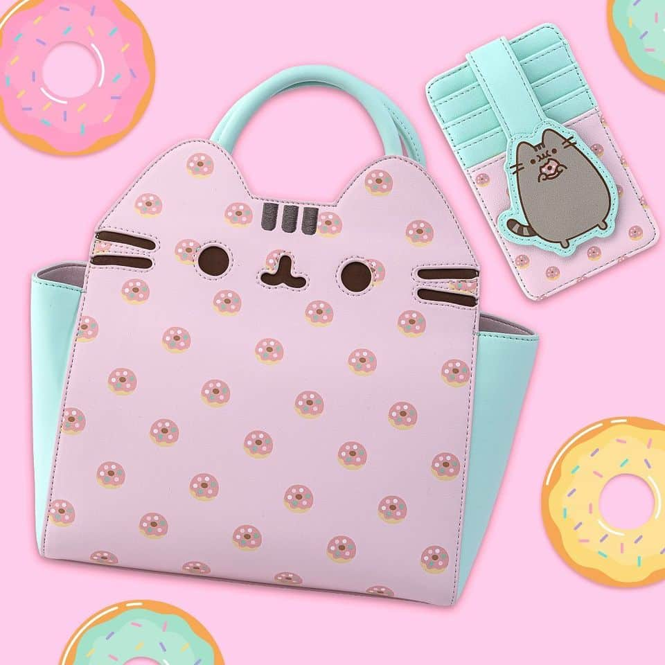 Loungefly Pusheen: Big Kitty Donuts Cardholder and Loungefly Pusheen: Big Kitty Donuts Crossbody Purse