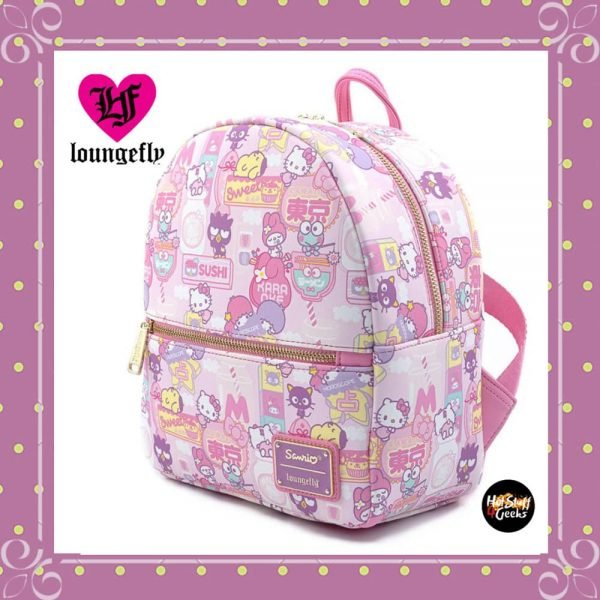 Loungefly Sanrio Hello Kitty Kawaii Convertible Backpack