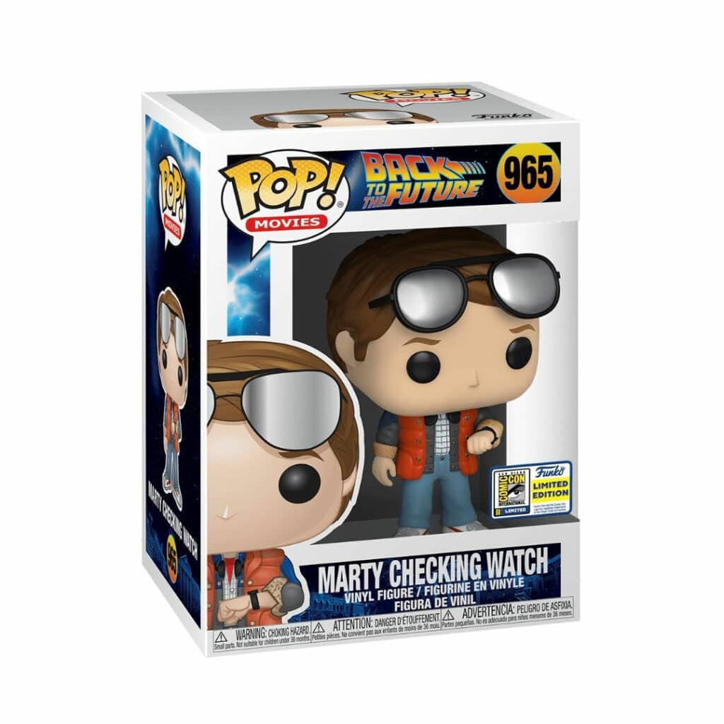 Funko Pop! Back To The Future: Marty Checking Watch Funko Pop! Vinyl Figure - SDCC 2020 and Walmart Shared Exclusive (Box)
