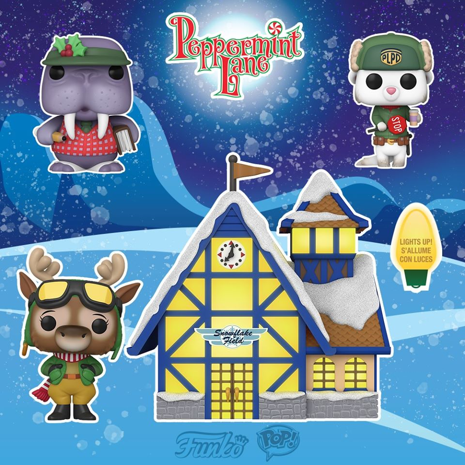 Funko Pop! Christmas: Peppermint Lane - Harriet Camber & Snowflake Field Pop! Town, Harry Chitwood, and Tusky Ledger Funko Pop! Vinyl Figures - Christmas Holiday 2020