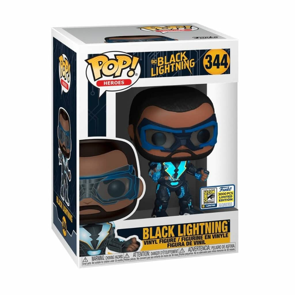 Funko Pop! DC Comics: Black Lightning - Black Lightning Funko Pop! Vinyl Figure - SDCC 2020 and Show Only Shared Exclusive (Box)