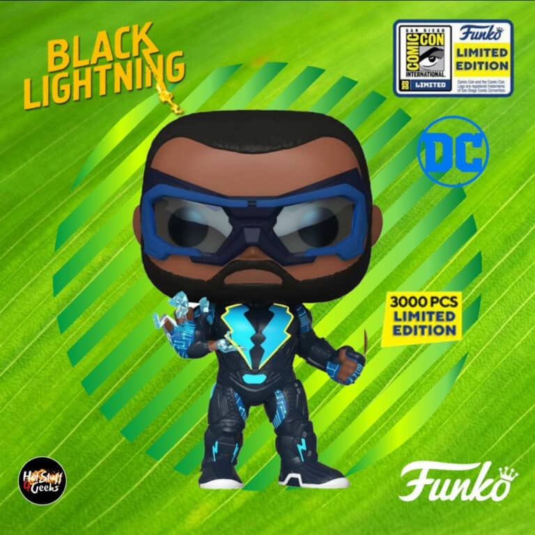 Pop! DC Comics: Black Lightning - Black Lightning Funko Pop! Vinyl Figure - SDCC 2020 and Show Only Shared Exclusive