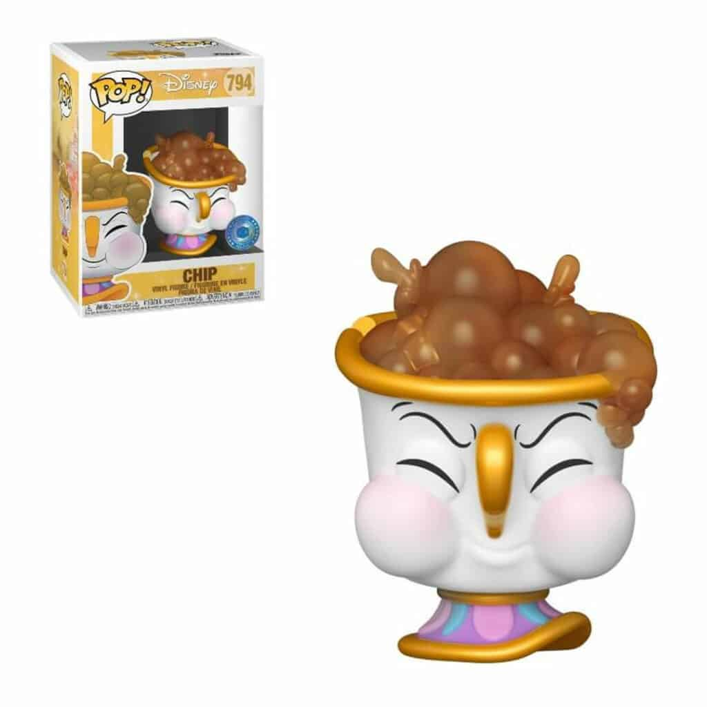 Funko Pop! Disney Beuty and The Beast - Chip With Bubbles Funko Pop! Vinyl Figure - Pop In a Box Exclusive