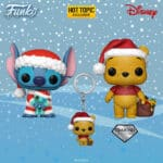 Funko Pop! Disney: Winnie The Pooh (Diamond Collection)  and Stich & Scrump Funko Pop! Vinyl Figures  in Christmas Holiday Outfit 2020 – Hot Topic Exclusive