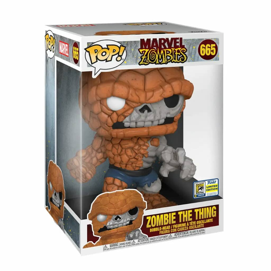 Funko Pop! Marvel Zombies: Zombie The Thing (10-inch) Funko Pop! Vinyl Figure - SDCC 2020 and GameStop Exclusive (box)