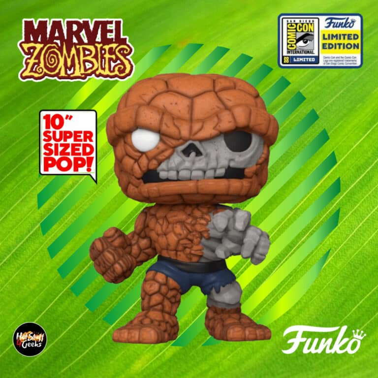 Funko Pop! Marvel Zombies: Zombie The Thing (10-inch) Funko Pop! Vinyl Figure - SDCC 2020 and GameStop Exclusive