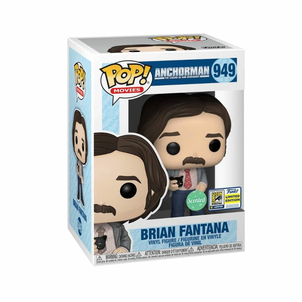 Funko Pop! Movies: Anchorman: The Legend Of Ron Burgandy - Brian Fantana (Scented) Funko Pop! Vinyl Figure - SDCC 2020 and Funko Shop Shared Exclusive (Box)