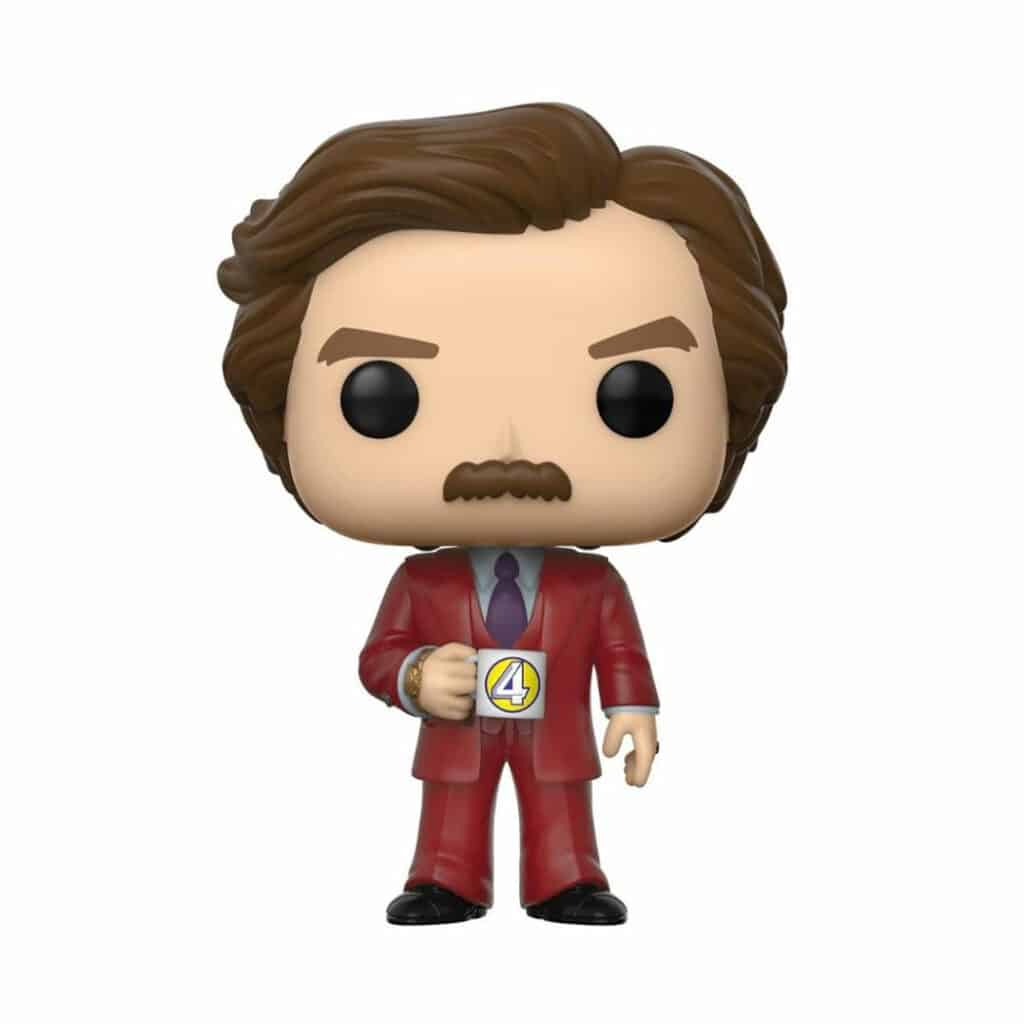 Funko Pop! Movies: Anchorman: The Legend Of Ron Burgandy - Ron Burgandy With Cup Funko Pop! Vinyl Figure - SDCC 2020 and Funko Shop Shared Exclusive