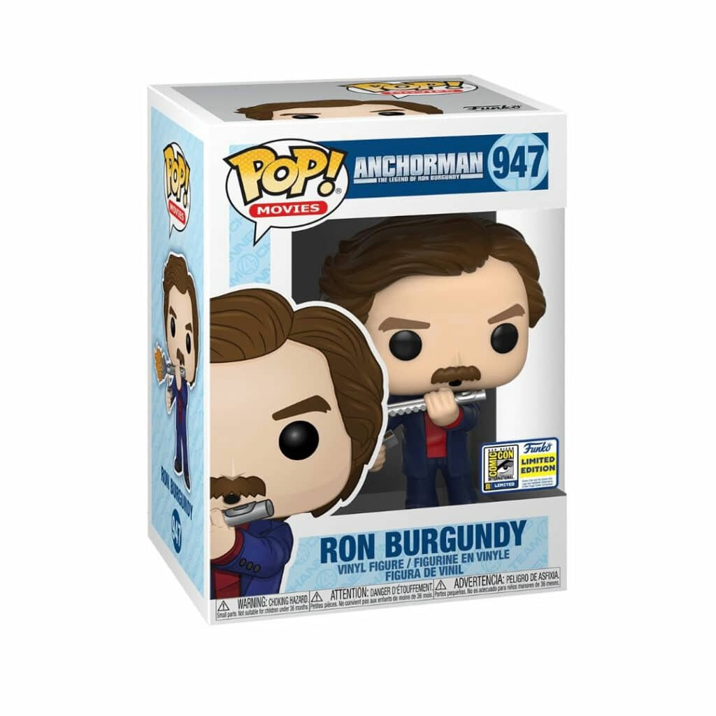 Funko Pop! Movies: Anchorman: The Legend Of Ron Burgandy Funko Pop! Vinyl Figures - SDCC 2020 and Funko Shop Shared Exclusives (Box)