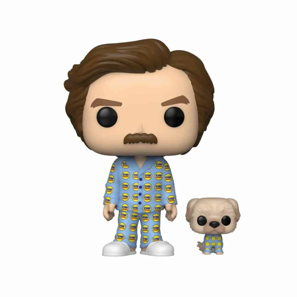 Funko Pop! Movies: Anchorman: The Legend Of Ron Burgandy - Ron With Baxter Funko Pop! Vinyl Figure - SDCC 2020 and Funko Shop Shared Exclusive