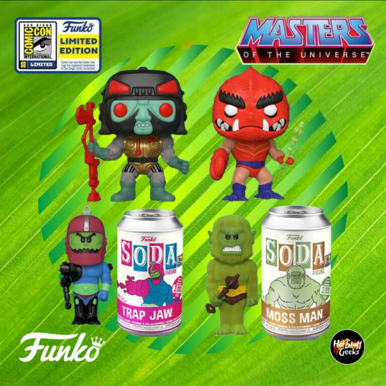 Funko Pop! Television – Masters of the Universe: Clawful and Blast-Attak Funko Pop! and Trap Jaw and Moss Man Funko Vinyl Soda Figures - SDCC 2020, Funko Shop and Toy Tokyo Shared Exclusives