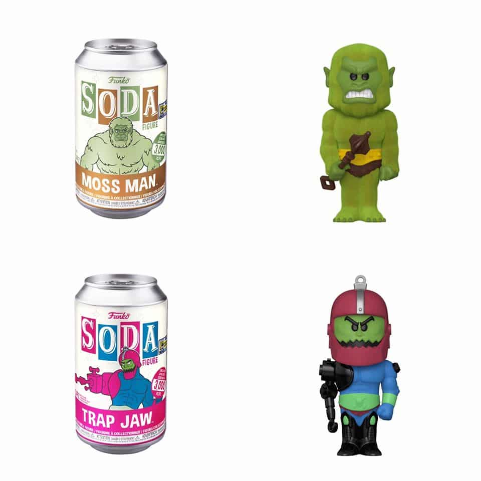 Funko Vinyl Soda Masters of the Universe: Trap Jaw and Moss Man Funko Soda Vinyl Figures - SDCC 2020 and Funko Shop Shared Exclusive