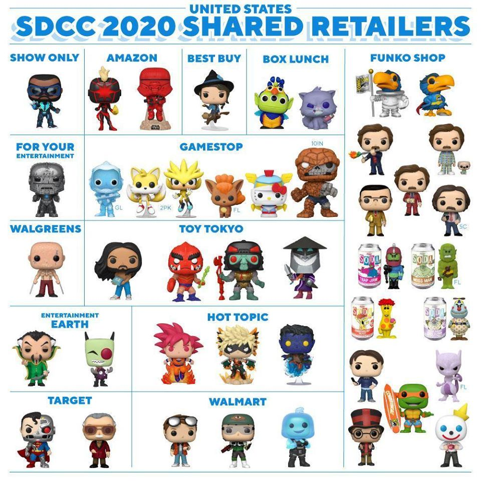 United States - Funko SDCC 2020 Shared Retailers