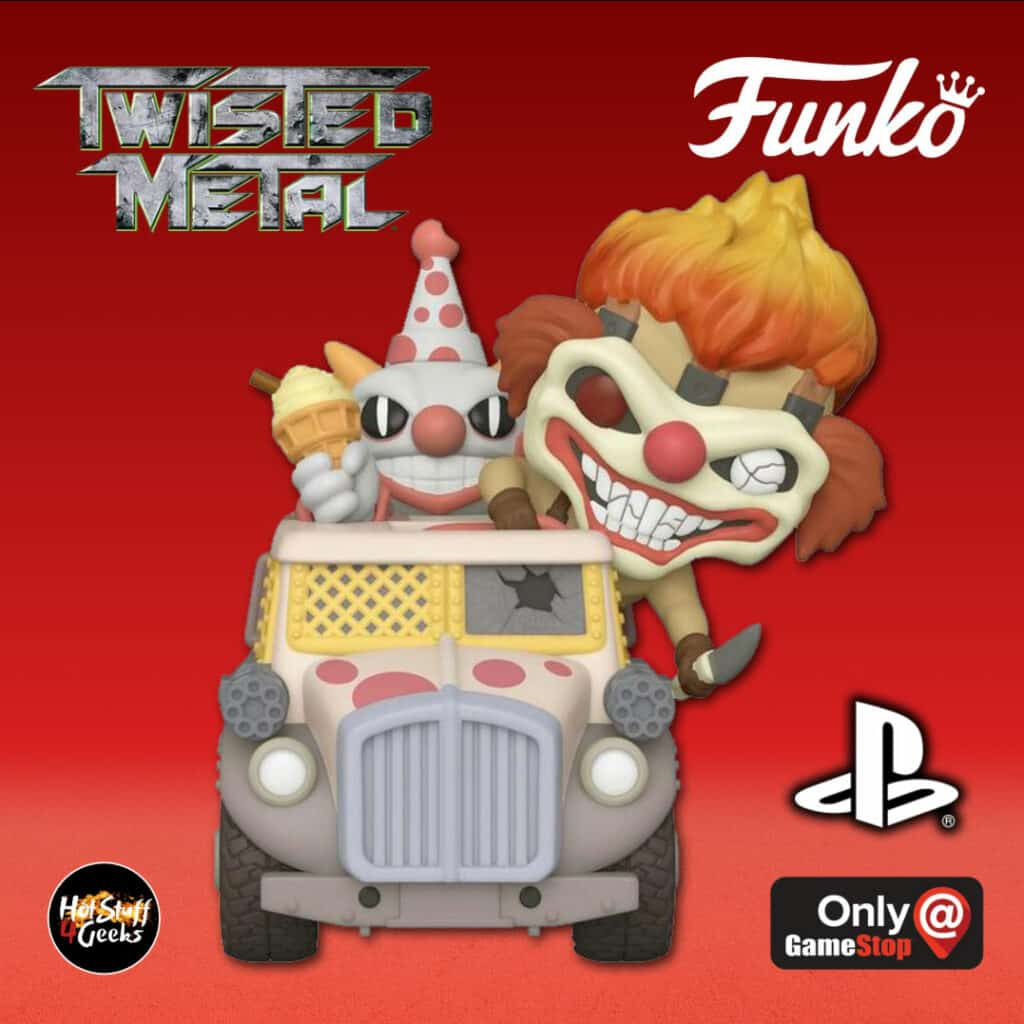 Funko POP! Rides: Playstation - Twisted Metal: Sweet Tooth with Ice Cream Truck Funko Pop! Vinyl Figure - GameStop Exclusive