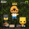 Funko Pop! Television: The Simpsons Treehouse Of Horror (The Simpsons Halloween specials) - Donut Head Homer Funko (Hot Topic Exclusive) and Bart as The Raven (BoxLunch Exclusive) Pop! Vinyl Figures - Wave 2020
