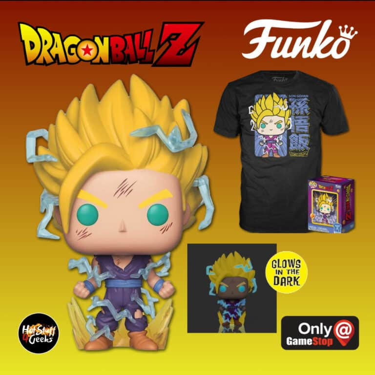 Funko POP! and Tee: Dragon Ball Z - Super Saiyan 2 Gohan Glow-In-The-Dark Funko Pop! Vinyl Figure and T-Shirt Bundle - GameStop Exclusive