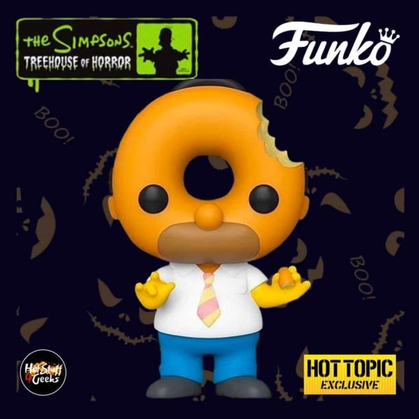 Funko Pop! Animation: The Simpsons Treehouse Of Horror (The Simpsons Halloween specials) - Donut Head Homer Funko Pop! Vinyl Figure - Hot Topic Exclusive