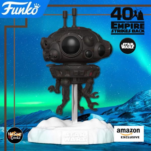 Funko Pop! Deluxe: Star Wars Episode V: The Empire Strikes Back 40th Anniversary - Battle at Echo Base: Probe Droid 6-inch Funko Pop! Vinyl Figure  - Amazon Exclusive Diorama - Figure 4 of 6