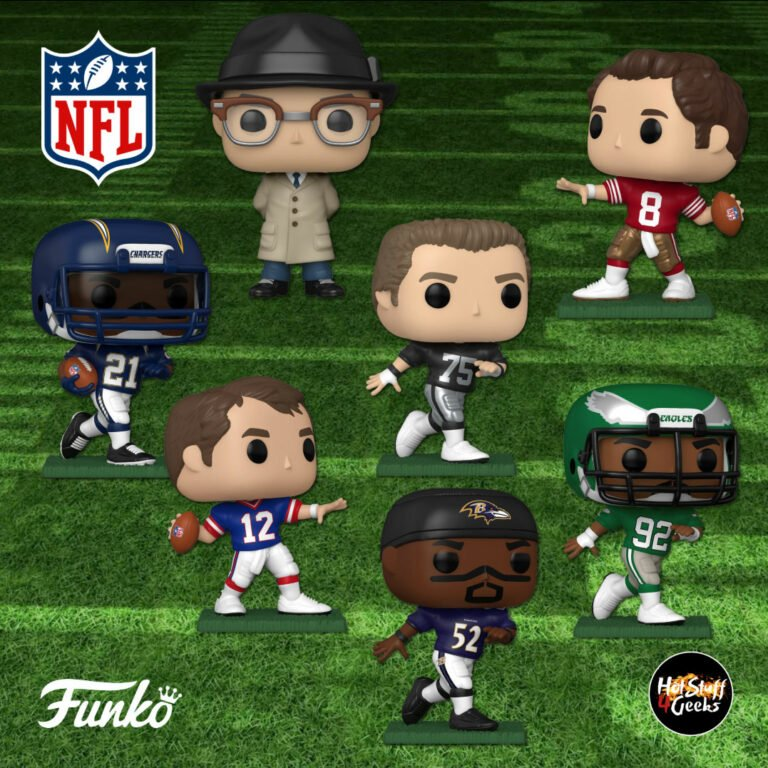 Funko Pop! Football: NFL Legends - Howie Long (Raiders), Jim Kelly (Bills), Reggie White (Eagles), Vince Lombardi (Packers), LaDainian Tomlinson (Chargers), Ray Lewis (Ravens), and Steve Young (49ers) Funko Pop! Vinyl Figures - 2020 Wave