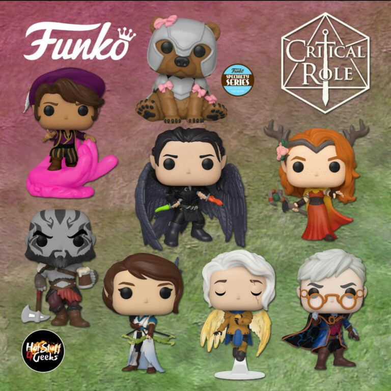 Funko Pop! Games: Critical Role - Vox Machina - Vex'ahlia,Grog Strongjaw, Scanlan Shorthalt, Vax'ildan, Pike Trickfoot, Percival de Rolo, Keyleth, and Trinket (Armoured) Specialty Series Exclusive Funko Pop! Vinyl Figures