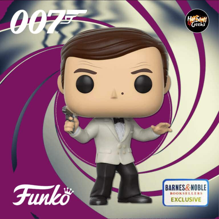 Funko Pop! Movies: 007 James Bond – Octopussy: James Bond White Tux (Roger Moore) Funko Pop! Vinyl Figure - Barnes and Noble Exclusive